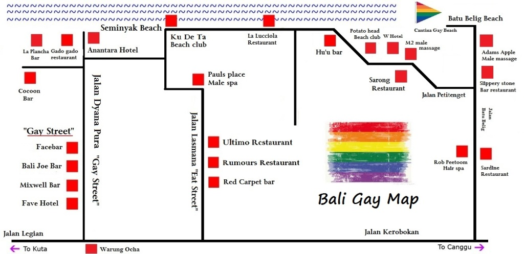 Bali Gay Map